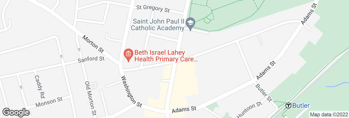 Map of Dorchester Ave @ Richmond St and surrounding area