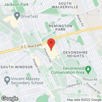Map of LensCrafters - Temporarily Closed at 3100 Howard Avenue, Windsor, ON N8X 3Y8