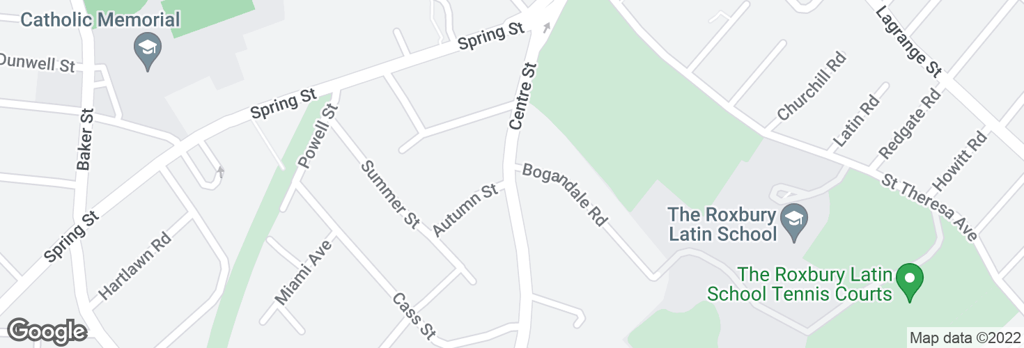 Map of Centre St @ Bogandale Rd and surrounding area