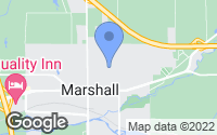 Map of Marshall, MI
