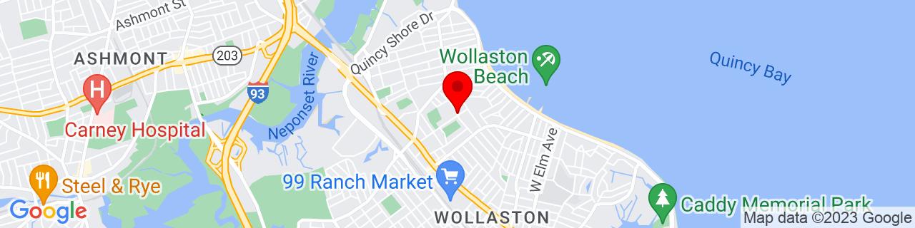 Google Map of 42.278053, -71.0227033