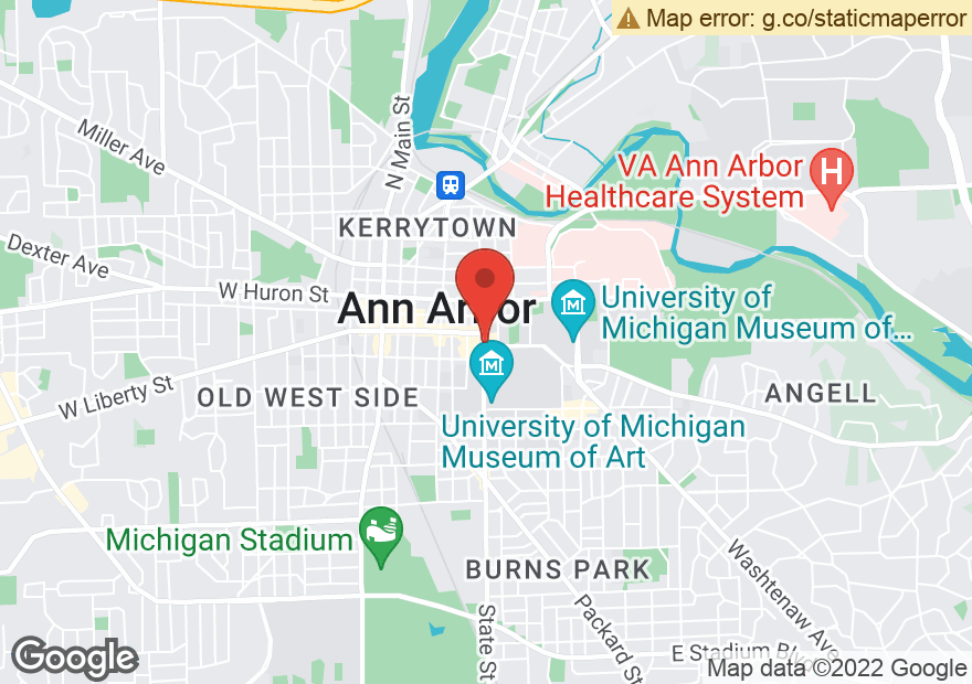 Google Map of 317 S STATE ST