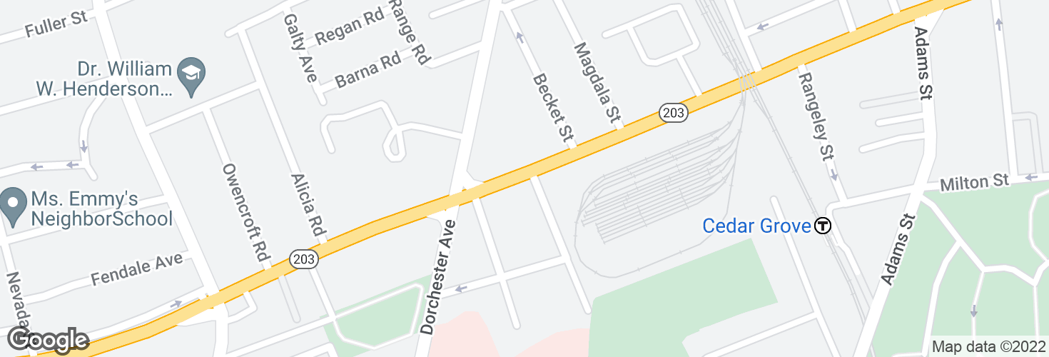 Map of Gallivan Blvd @ Hutchinson St and surrounding area