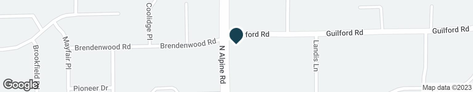 Google Map of1145 N ALPINE RD