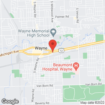 Map of Arby's at 34475 Michigan Ave, Wayne, MI 48184