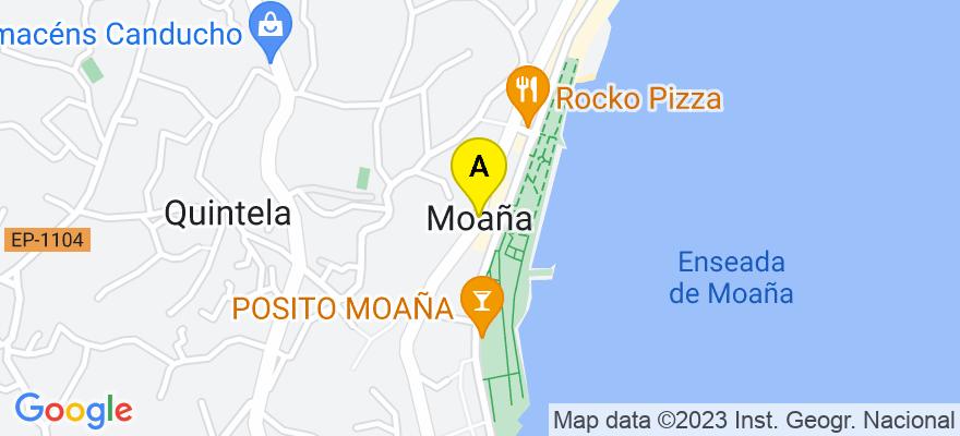 situacion en el mapa de . Direccion: Moaña, 36950 Moaña. Pontevedra