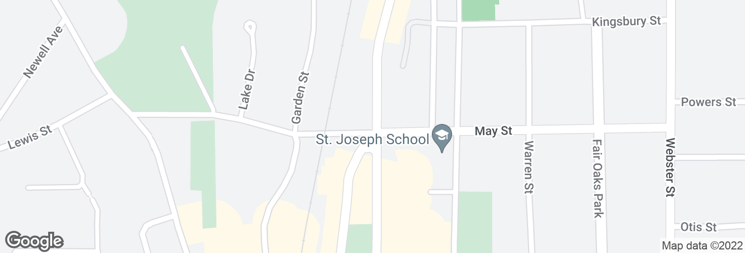 Map of Highland Ave @ May St and surrounding area