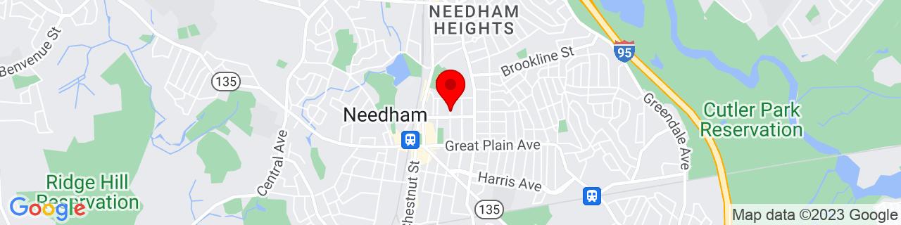 Google Map of 42.28333333333333, -71.23277777777778