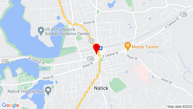 Google Map of 14 Summer Street, Natick, MA 01760