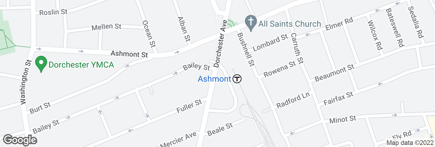 Map of Ashmont and surrounding area