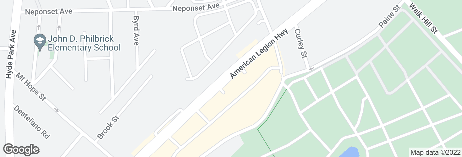 Map of 684 American Legion Hwy and surrounding area