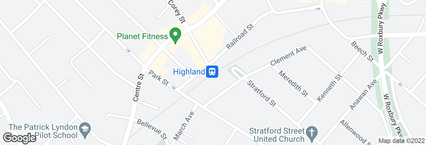 Map of Highland and surrounding area