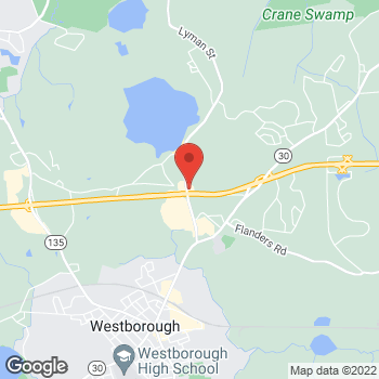 Map of Burger King at 139 Turnpike Rd, Westborough, MA 01581