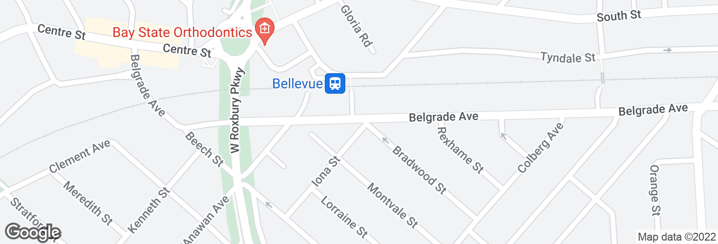 Map of Belgrade Ave @ Iona St and surrounding area