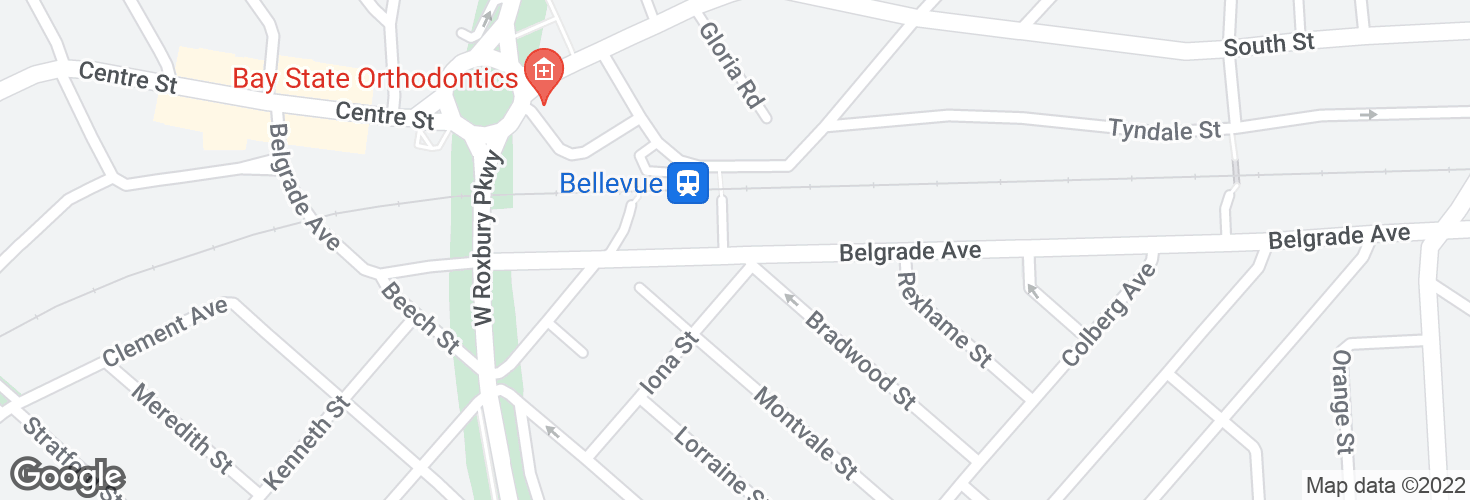 Map of Belgrade Ave @ McCraw St and surrounding area