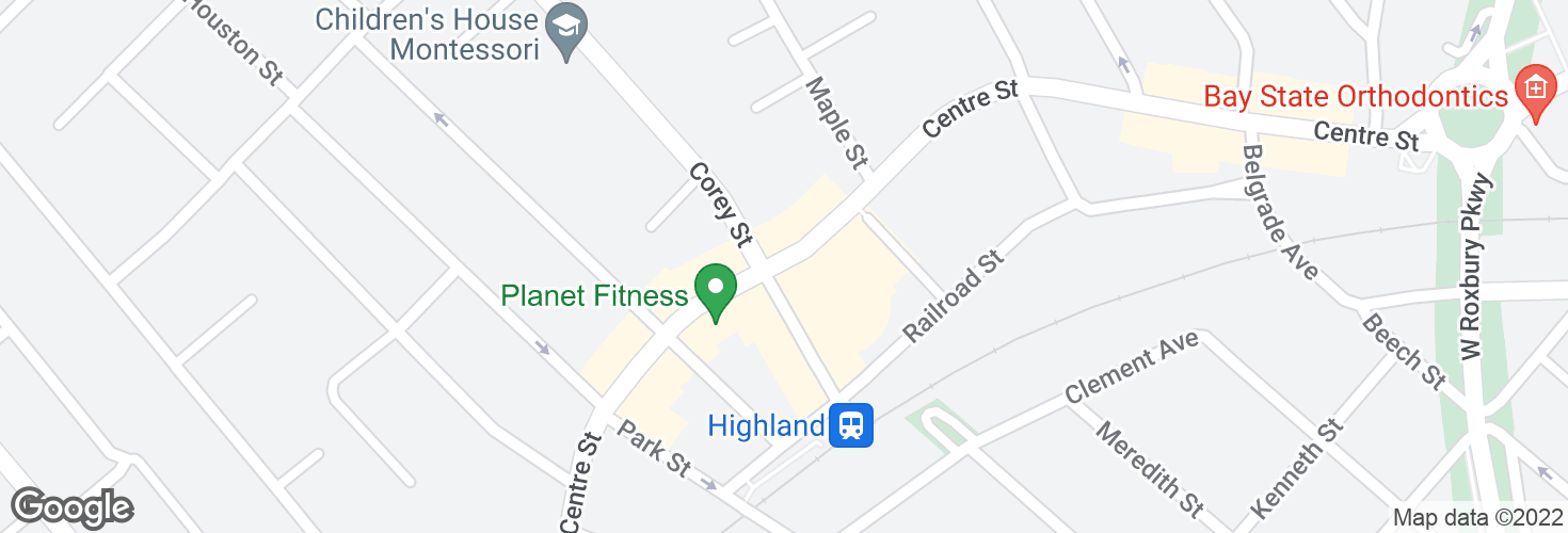 Map of Centre St @ Corey St and surrounding area