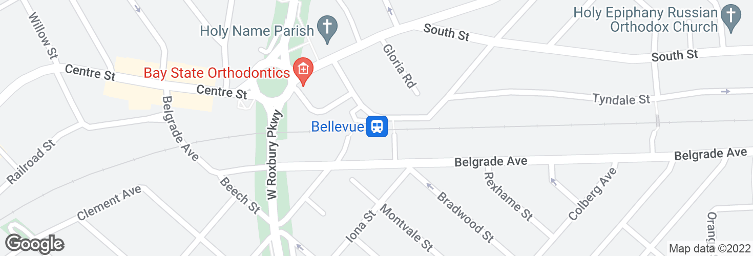 Map of Bellevue and surrounding area