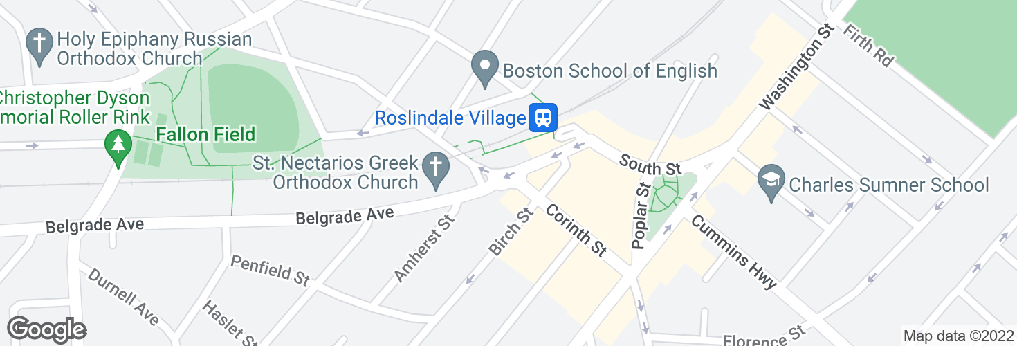Map of Belgrade Ave @ Robert St and surrounding area