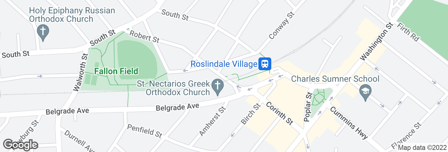 Map of Robert St @ Belgrade Ave and surrounding area