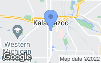 Map of Kalamazoo, MI