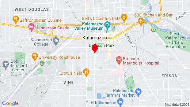 Google Map of 426 S. Park St., Kalamazoo, MI 49007