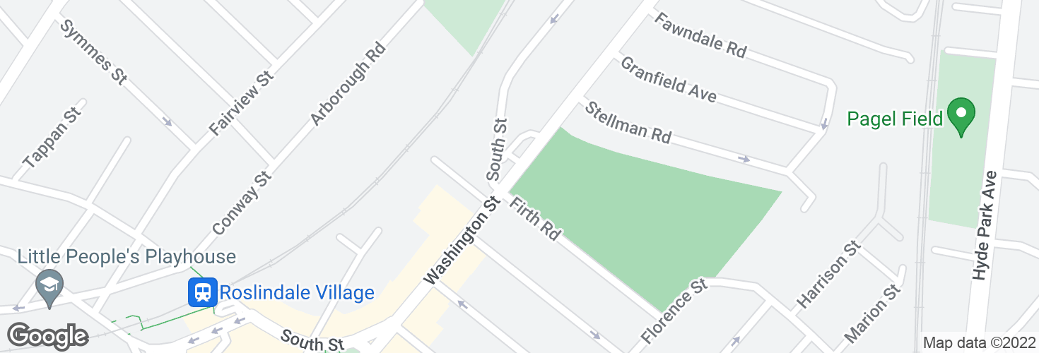 Map of Washington St @ Firth Rd and surrounding area