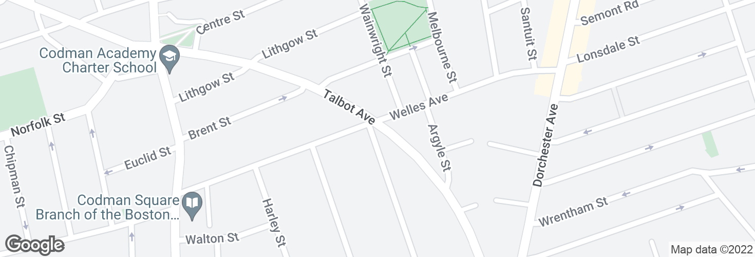 Map of Talbot Ave @ Welles Ave and surrounding area