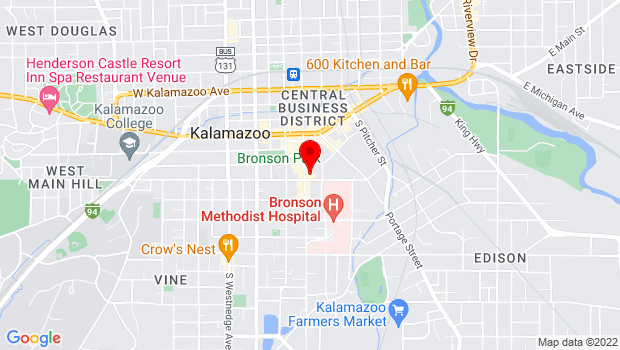 Google Map of 359 S. Kalamazoo Mall, Ste. 12, Kalamazoo, MI 49007