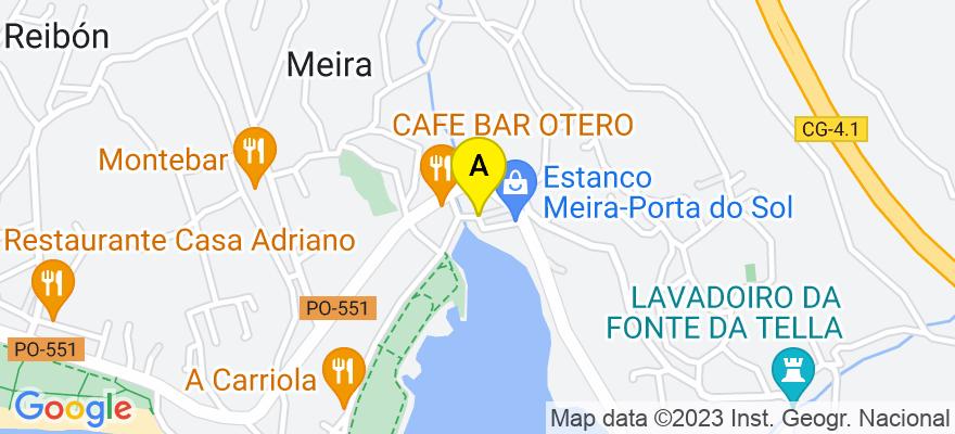 situacion en el mapa de . Direccion: Vigo, 36204 Vilaboa. Pontevedra