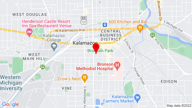 Google Map of 321 W. South St., Kalamazoo, MI 49007