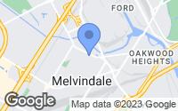 Map of Melvindale, MI