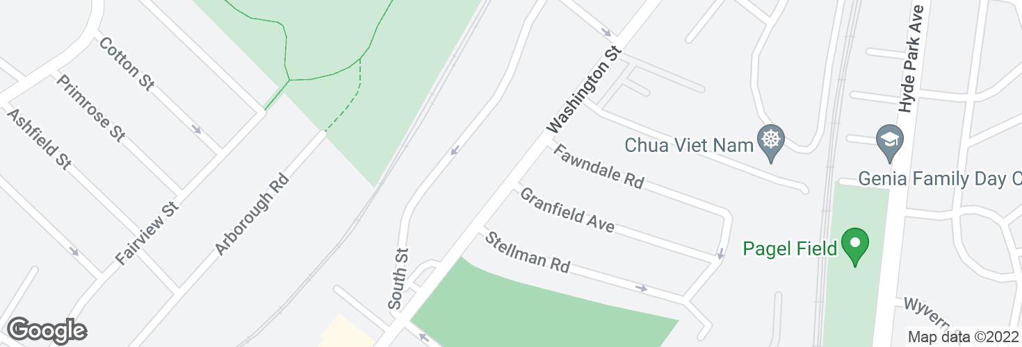 Map of Washington St opp Granfield Ave and surrounding area