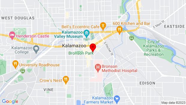 Google Map of 221 Farmers Alley, Kalamazoo, MI 49007