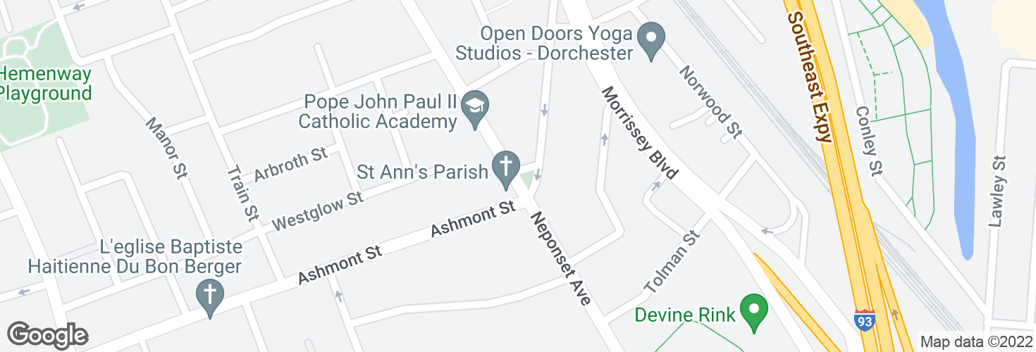 Map of 248 Neponset Ave and surrounding area