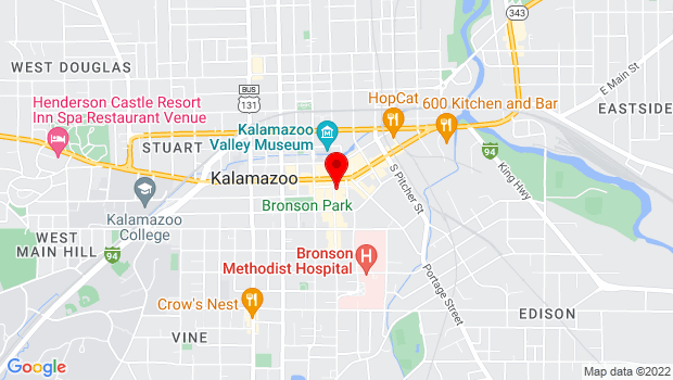Google Map of 125 S. Kalamazoo Mall, Kalamazoo, MI 49007