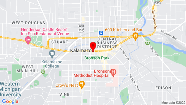 Google Map of 315 W. Michigan Avenue, Kalamazoo, MI 49007