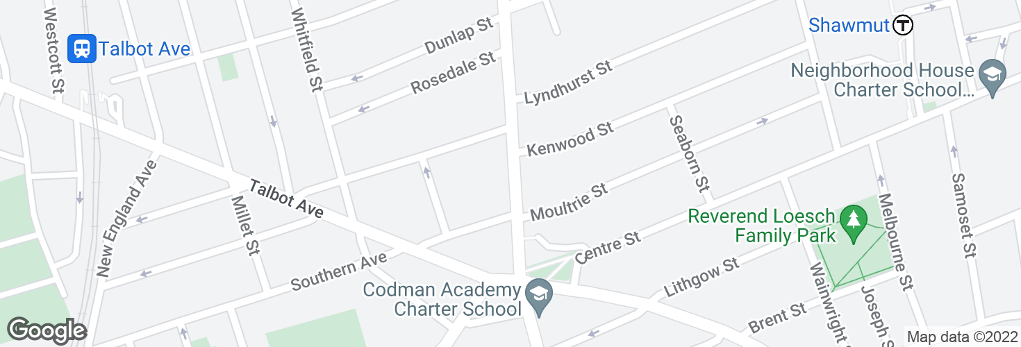 Map of Washington St @ Southern Ave and surrounding area