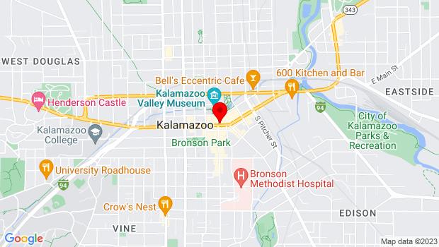 Google Map of 100 E. Michigan Ave., Kalamazoo, MI 49007