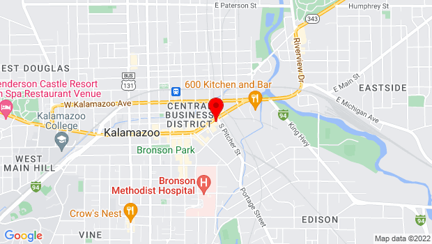 Google Map of 350 E Michigan Ave, Kalamazoo, MI 49007