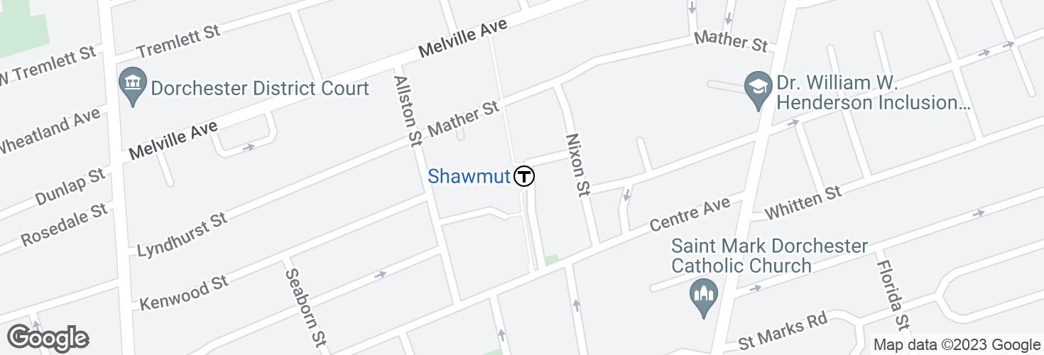 Map of Shawmut and surrounding area