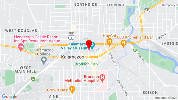 Google Map of 230 North Rose Street, Kalamazoo, MI 49003