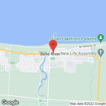 Map of Tim Hortons at 581 Notre Dame, Belle River, ON N0R 1A0