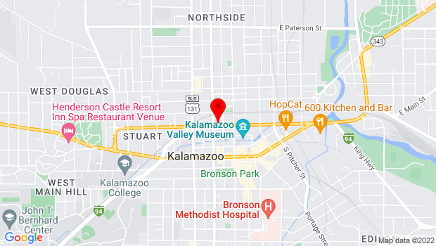Google Map of 326 W. Kalamazoo Ave., Kalamazoo, MI 49007