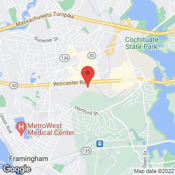 Map of Bed Bath & Beyond at 84 Worcester Road, Framingham, MA 01702