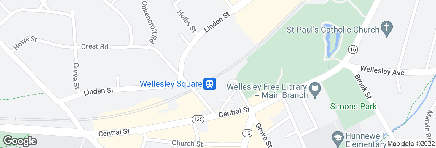 Map of Wellesley Square and surrounding area