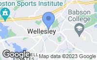 Map of Wellesley, MA