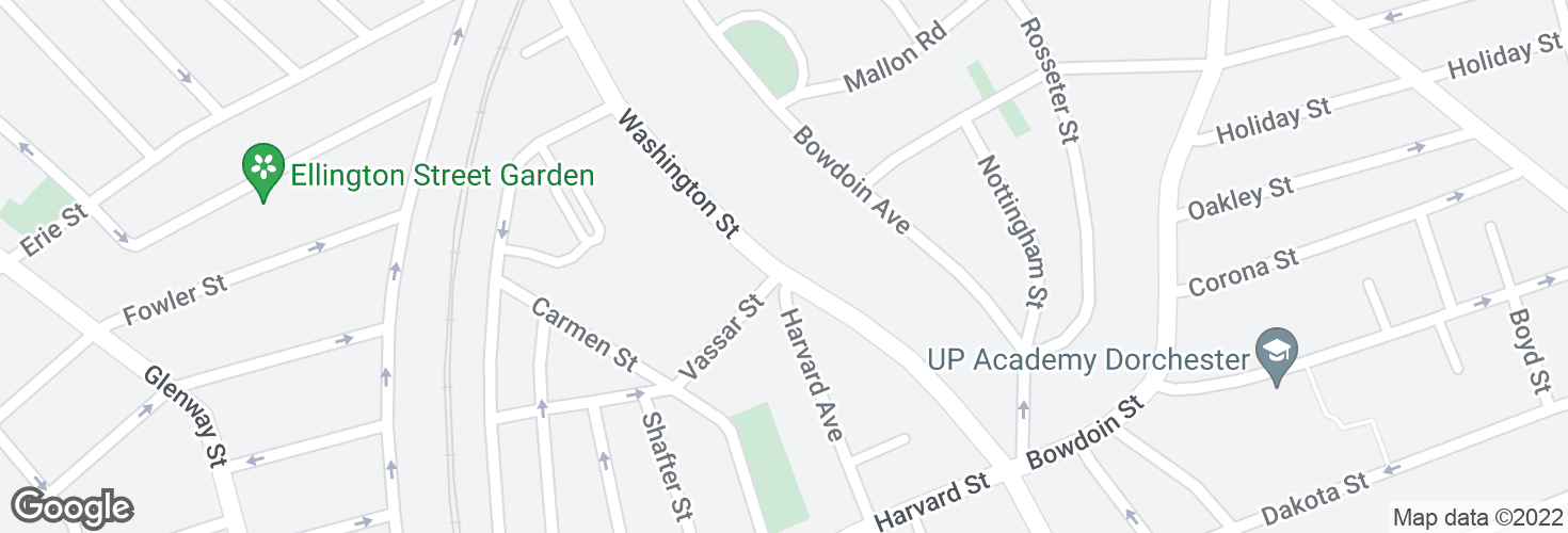 Map of Washington St @ Vassar St and surrounding area
