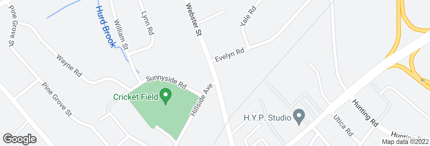 Map of Webster St @ Hillside Ave and surrounding area