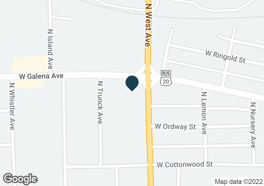 Google Map of835 W GALENA AVE