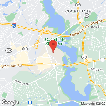 Map of Guitar Center Lessons at 321 Speen St, Natick, MA 01760
